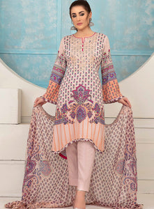 Belle Printed Lawn Collection By Tawakkal Fabrics 2020 Unstitched 3 Piece Suit D-8904