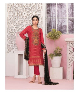 TAWAKKAL Bedazzled Embroidered Gold Table Print Unstitched Collection D-8906