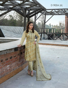 Ready To Wear Tawakkal Fabrics Dalliance of Dreams 3 Piece Suit D-9004-A