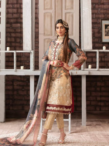 Tawakkal Fabrics Luxurious Affaire Masuri Silk 3Piece Suit D-9096