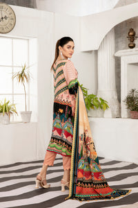 Allure Slab Linen Embroidered & Printed 3 Piece Un-Stitched Suit D-9411