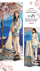 Gul Ahmed 3 Piece Unstitched Shaleen Printed Suit DCS-18