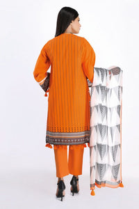 Khaadi 3 Piece Dobby Unstitched Suit DR-20204 Orange