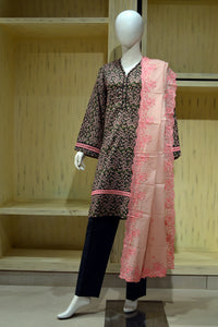 Ready to wear Embroidered Lawn stitched 3 Piece Suit CL-868