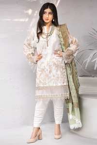 Iznik Festive Lawn Collection 2020 3PC Eomroidered Suit EFL-08 Sang E Marmar