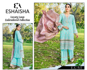 ESHAISHA LUXURY LAWN EMBROIDERED COLLECTION 20 EA-511
