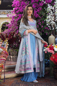 3PC Unstitched Embroidered Suit With Cotton Net Dupatta - FE-12063-MAHRUKH