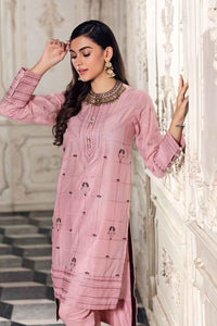 Embroidered Lawn Unstitched Kurties FE-165 - Dark Pink