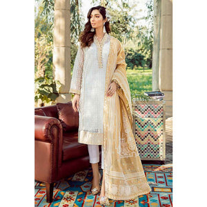 Gul Ahmed Printed Organza Unstitched 3 Piece Suit FE-262