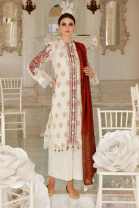 Gul Ahmed 3 PC Embroidered-Suit with Cotton Net Dupatta FE-267