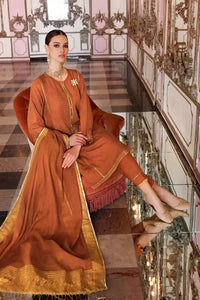 3 PC Unstitched Embroidered Suit with Jacquard Dupatta FE-272