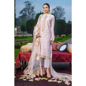 Gul Ahmed Embroidered Lawn Unstitched 3 Piece Suit FE-298