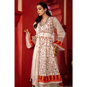 Gul Ahmed Embroidered Lawn Unstitched 3 Piece Suit FE-316