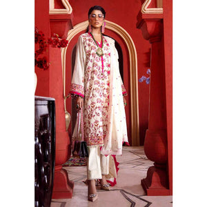 Gul Ahmed Embroidered Lawn Unstitched 3 Piece Suit FE-317