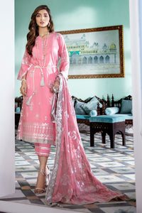 Gul Ahmed 3 PC Embroidered Stitched Suit with Chiffon Dupatta FE-325