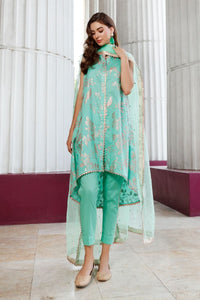 Gul Ahmed 3 PC Embroidered suit with Net Dupatta FE-329 B