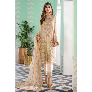 Gul Ahmed Embroidered Chiffon Unstitched 3 Piece Suit FE-349