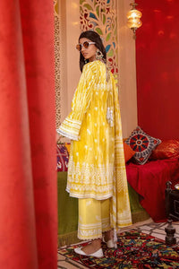 3 PC Unstitched EmbroideredSuit with Lacquer Printed Dupatta FE-353