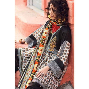 Gypsy Embroidered Lawn Unstitched 2 Piece Suit GT-13 B