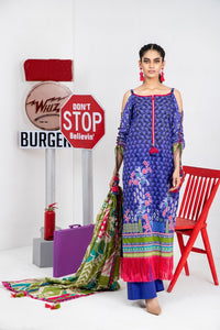 Komal by Lakhany Printed Lawn Unstitched 3 Piece Suit KP-2034