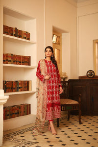 Lakhany Embroidered Lawn Unstitched 3 Piece Suit BLC-5010