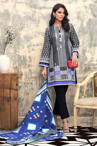3 PC Unstitched Digital Printed Khaddar Suit K-105