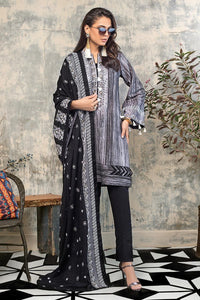 Ready to Wear 3 PC Embroidered Suit with Denting Lawn Dupatta K-112