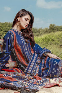 3 PC Unstitched Digital Printed Khaddar Suit K-116
