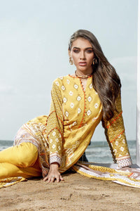 3 PC Unstitched Digital Printed Khaddar Suit K-117