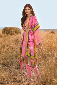 3 PC Unstitched Linen Suit with Silk Karandi Shawl KP-08
