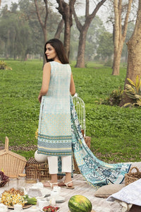 Lakhani Komal Prints 3 Piece Unstitched Printed Lawn Suit KP-2003-A