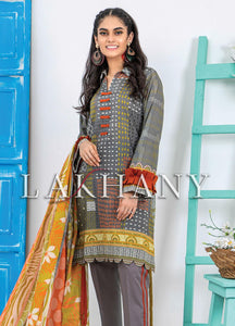 Komal by Lakhany Printed Lawn Unstitched 3 Piece Suit KP-2036