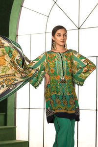 Sapphire 3 Piece Unstitched Digital Printed Suit Koh e Nor