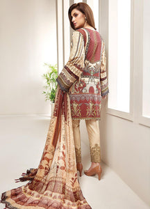 Farasha Embroidered Lawn Unstitched 3 Piece Suit L-07 Vintage Fusion