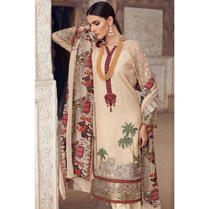Gul Ahmed Embroidered Chiffon Unstitched 3 Piece Suit LE-05