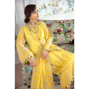 Embroidered Chiffon Unstitched 3 Piece Suit LE-15