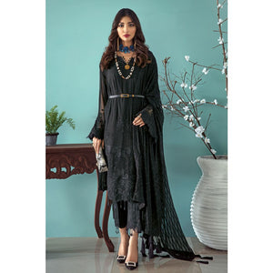 Embroidered Chiffon Unstitched 3 Piece Suit LE-16