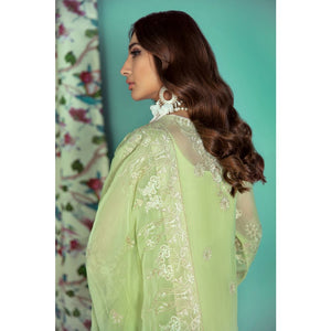Embroidered Chiffon Unstitched 3 Piece Suit LE-17