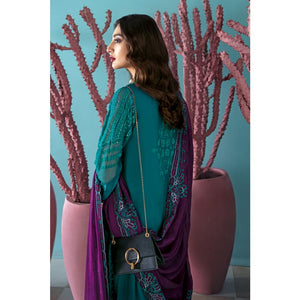 Ready to Wear Gul Ahmed Embroidered Chiffon Stitched 3 Piece Suit LE-20