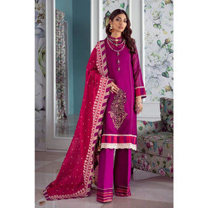 Printed Cotton Net Unstitched 3 Piece Suit LE-21