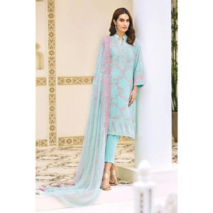 Embroidered Swiss Voile Unstitched 3 Piece Suit LSV-16
