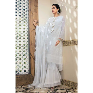 Embroidered Swiss Voile Unstitched 3 Piece Suit LSV-17