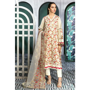 Embroidered Swiss Voile Unstitched 3 Piece Suit LSV-28