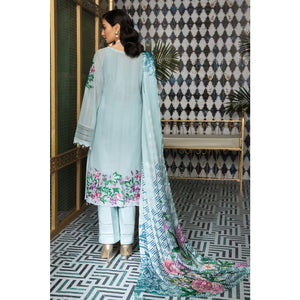Embroidered Swiss Voile Unstitched 3 Piece Suit LSV-31
