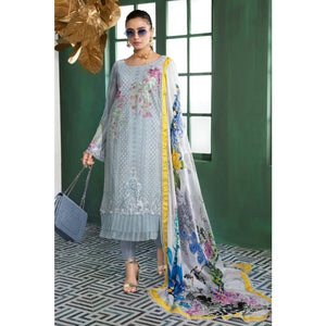 Embroidered Swiss Voile Unstitched 3 Piece Suit LSV-33