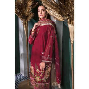 Embroidered Swiss Voile Unstitched 3 Piece Suit LSV-35