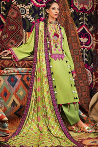 Gul Ahmed The Crafts of Himaliyas 3 Piece Embroidered Twill Linen LT-03