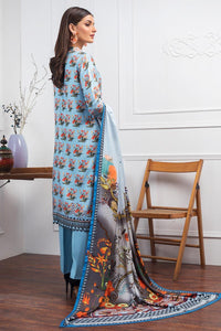 3 PC Unstitched Digital Printed Twill Linen Suit LT-05