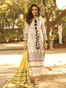 Lakhany Jacquard Embroidered Lawn spring collection 3pc Suit JC-2091