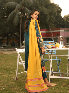 Lakhany Textured lawn Embroidered spring collection 3pc Suit SLC-3013